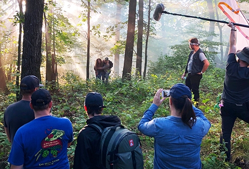 """The short film """"The Burial"""" was filmed at several locations in the Lansing area last fall, including this and other scenes in the rural..."""