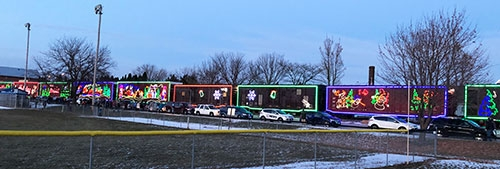 Large crowds greeted the Canadian Pacific Holiday Train at both its stops in Lansing and New Albin Wednesday afternoon and evening, December 5, as...