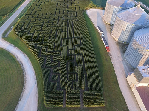 The Waukon Feed Ranch has created a corn maze at its Agronomy Center location along Old Highway 9 west of Waukon, and the next two weekends will...