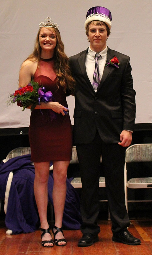 Kee High School seniors Makayla Walleser (left) and Tony Martin (right) were crowned Kee High School's 2018 Homecoming Queen and King at the...