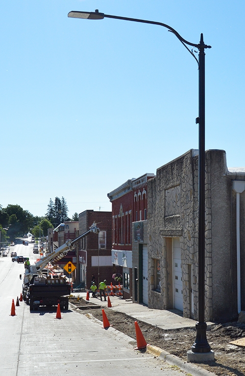 New decorative street lights are in the process of being installed in conjunction with the Iowa Department of Transportation (DOT) street and...