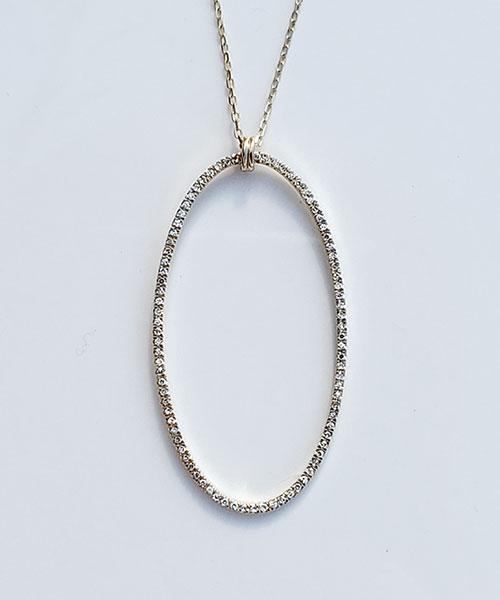 Ladies' 14kt gold diamond pendant ...