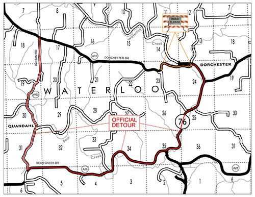 The Allamakee County Engineer's Office has announced that a portion of County Road A16/Dorchester Drive, the paved roadway exiting Dorchester...