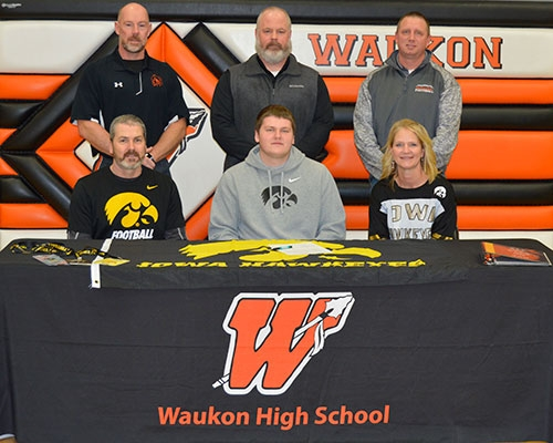 Waukon High School senior Asher Fahey signed a National Letter of Intent during NCAA Division I football's regular signing day Wednesday,...