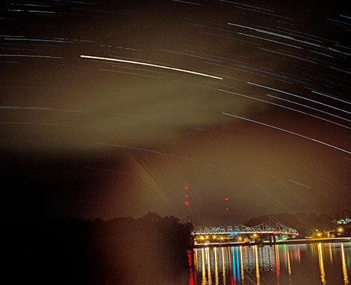 "Bruce Ferguson of San Diego, CA created this ""Star Trail"" photo and submitted it to The Standard for publication consideration...."