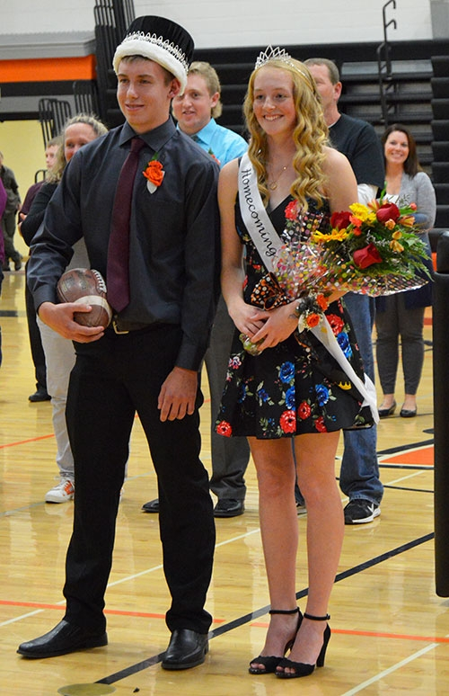 Waukon High School seniors Thomas Byrnes (left) and Megan O'Neill (right) were crowned Waukon High School's 2018 Homecoming King and Queen...