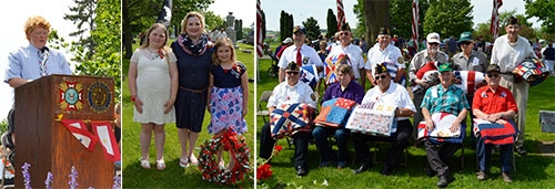In Waukon...The annual Memorial Day Observance held May 28 at Oakland Cemetery in Waukon included delivery of the featured presentation by Sean...