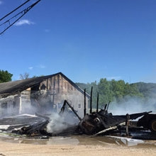 Former Lansing Feed Service catches fire Monday afternoon ...